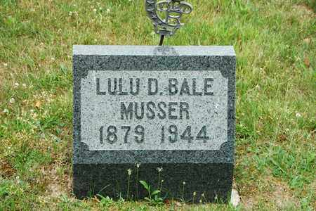 BALE MUSSER, LULU D. - Wayne County, Ohio | LULU D. BALE MUSSER - Ohio Gravestone Photos
