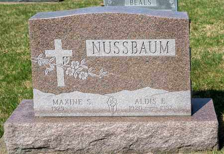 NUSSBAUM, ALDIS E - Wayne County, Ohio | ALDIS E NUSSBAUM - Ohio Gravestone Photos