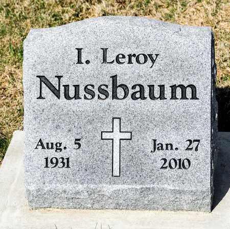 NUSSBAUM, I LEROY - Wayne County, Ohio | I LEROY NUSSBAUM - Ohio Gravestone Photos