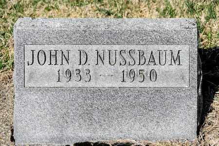 NUSSBAUM, JOHN D - Wayne County, Ohio | JOHN D NUSSBAUM - Ohio Gravestone Photos