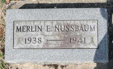 NUSSBAUM, MERLIN E - Wayne County, Ohio | MERLIN E NUSSBAUM - Ohio Gravestone Photos