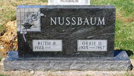 NUSSBAUM, ORRIE D - Wayne County, Ohio | ORRIE D NUSSBAUM - Ohio Gravestone Photos