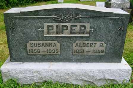PIPER, ALBERT B - Wayne County, Ohio | ALBERT B PIPER - Ohio Gravestone Photos