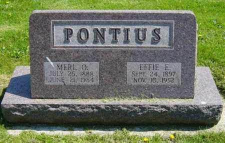 PONTIUS, MERL O. - Wayne County, Ohio | MERL O. PONTIUS - Ohio Gravestone Photos