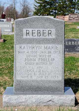 REBER, KATHRYN MARIE - Wayne County, Ohio | KATHRYN MARIE REBER - Ohio Gravestone Photos