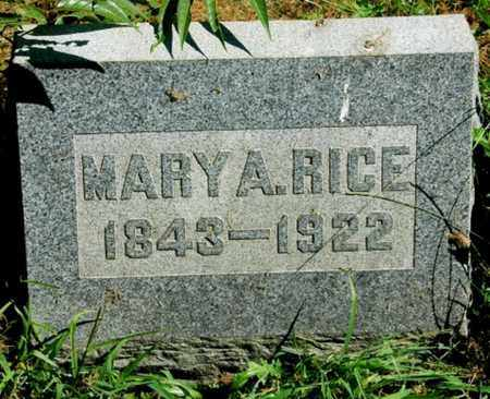 EBY RICE, MARY A. - Wayne County, Ohio | MARY A. EBY RICE - Ohio Gravestone Photos