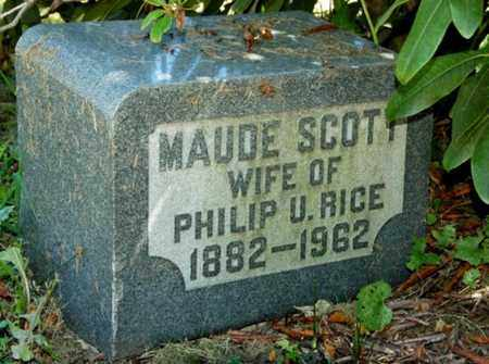 SCOTT RICE, MAUDE - Wayne County, Ohio | MAUDE SCOTT RICE - Ohio Gravestone Photos