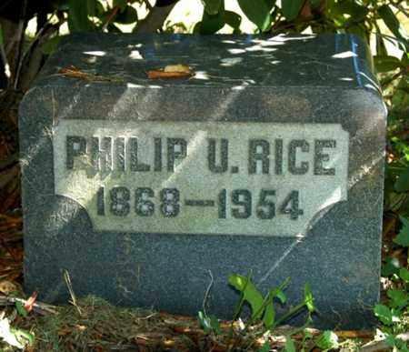 RICE, PHILIP U. - Wayne County, Ohio   PHILIP U. RICE - Ohio Gravestone Photos