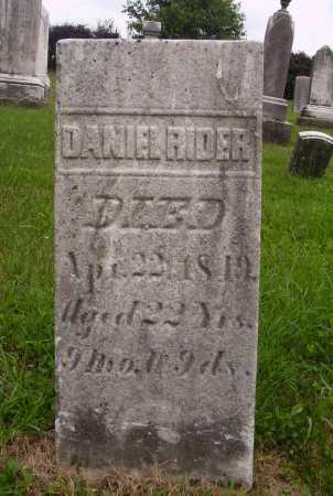 RIDER, DANIEL - Wayne County, Ohio | DANIEL RIDER - Ohio Gravestone Photos