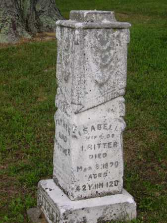 RITTER, ISABELL - Wayne County, Ohio | ISABELL RITTER - Ohio Gravestone Photos