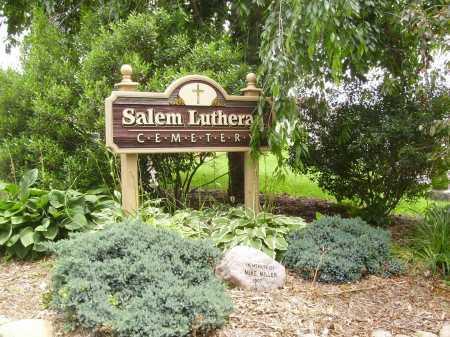 SALEM LUTHERAN CEMETERY, SIGN - Wayne County, Ohio | SIGN SALEM LUTHERAN CEMETERY - Ohio Gravestone Photos