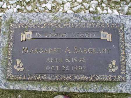 WERTZ SARGEANT, MARGARET ARLENE - Wayne County, Ohio | MARGARET ARLENE WERTZ SARGEANT - Ohio Gravestone Photos