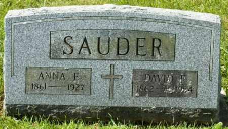 SAUDER, ANNA E. - Wayne County, Ohio | ANNA E. SAUDER - Ohio Gravestone Photos