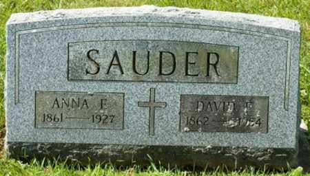 GERBERICH SAUDER, ANNA E. - Wayne County, Ohio | ANNA E. GERBERICH SAUDER - Ohio Gravestone Photos