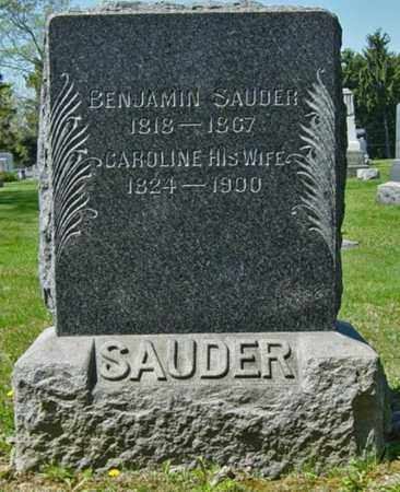 SAUDER, CAROLINE - Wayne County, Ohio | CAROLINE SAUDER - Ohio Gravestone Photos