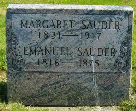 EMIG SAUDER, MARGARET - Wayne County, Ohio | MARGARET EMIG SAUDER - Ohio Gravestone Photos