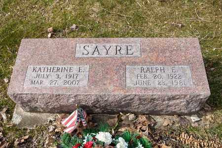 SAYRE, KATHERINE E. - Wayne County, Ohio | KATHERINE E. SAYRE - Ohio Gravestone Photos