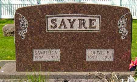 HINMAN SAYRE, OLIVE E. - Wayne County, Ohio | OLIVE E. HINMAN SAYRE - Ohio Gravestone Photos