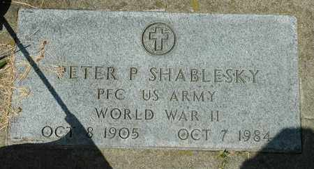 SHABLESKY, PETER P. - Wayne County, Ohio | PETER P. SHABLESKY - Ohio Gravestone Photos