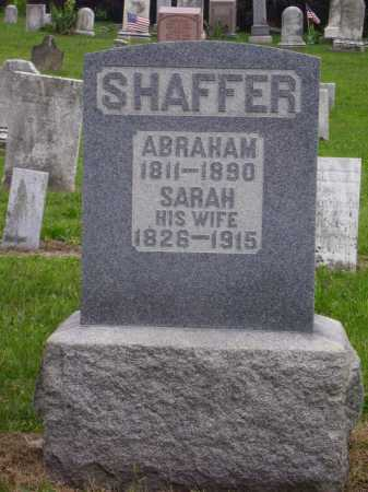 SHAFFER, ABRAHAM - Wayne County, Ohio | ABRAHAM SHAFFER - Ohio Gravestone Photos