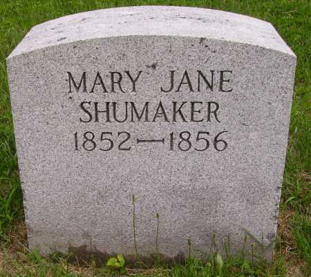 SHUMAKER, MARY JANE - Wayne County, Ohio | MARY JANE SHUMAKER - Ohio Gravestone Photos