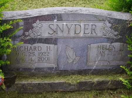 SNYDER, RICHARD H. - Wayne County, Ohio | RICHARD H. SNYDER - Ohio Gravestone Photos