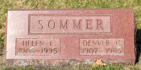 SOMMER, DENVER G - Wayne County, Ohio | DENVER G SOMMER - Ohio Gravestone Photos