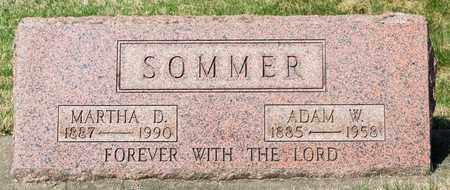 SOMMER, ADAM W - Wayne County, Ohio | ADAM W SOMMER - Ohio Gravestone Photos