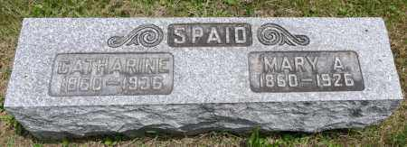 SPAID, MARY A. - Wayne County, Ohio | MARY A. SPAID - Ohio Gravestone Photos