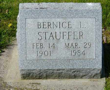STAUFFER, BERNICE L. - Wayne County, Ohio | BERNICE L. STAUFFER - Ohio Gravestone Photos