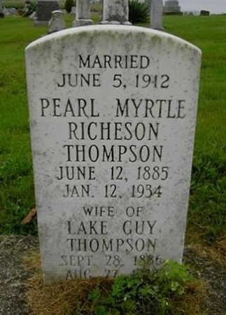 THOMPSON, PEARL MYRTLE - Wayne County, Ohio | PEARL MYRTLE THOMPSON - Ohio Gravestone Photos