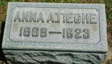TIECHE, ANNA A. - Wayne County, Ohio | ANNA A. TIECHE - Ohio Gravestone Photos