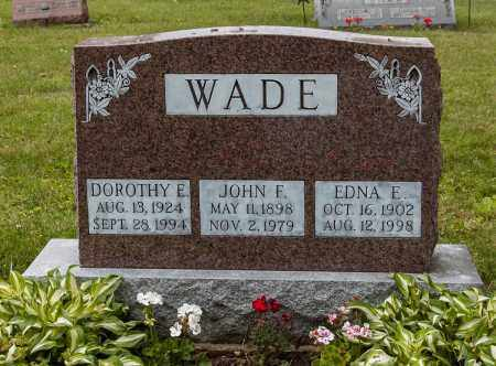 WADE, EDNA E. - Wayne County, Ohio | EDNA E. WADE - Ohio Gravestone Photos