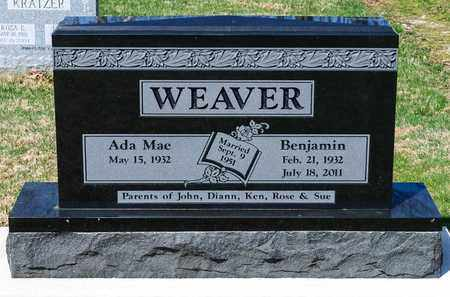 WEAVER, BENJAMIN - Wayne County, Ohio | BENJAMIN WEAVER - Ohio Gravestone Photos