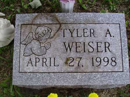 WEISER, TYLER A. - Wayne County, Ohio | TYLER A. WEISER - Ohio Gravestone Photos