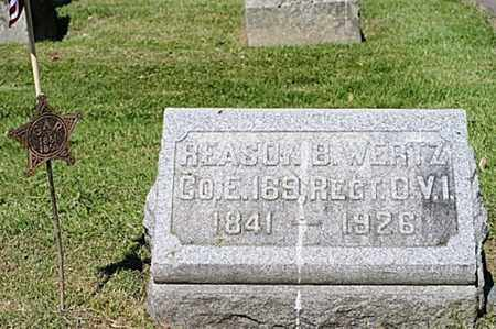 WERTZ, REASON B. - Wayne County, Ohio | REASON B. WERTZ - Ohio Gravestone Photos
