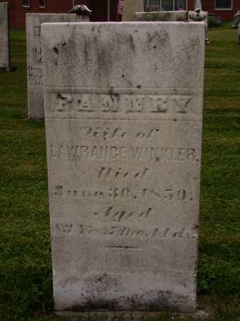 WINKLER, FANNEY - Wayne County, Ohio | FANNEY WINKLER - Ohio Gravestone Photos