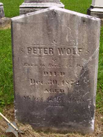 WOLF, PETER - Wayne County, Ohio | PETER WOLF - Ohio Gravestone Photos