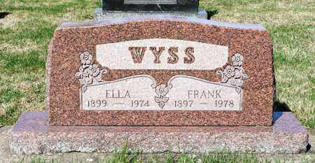 WYSS, ELLA - Wayne County, Ohio | ELLA WYSS - Ohio Gravestone Photos