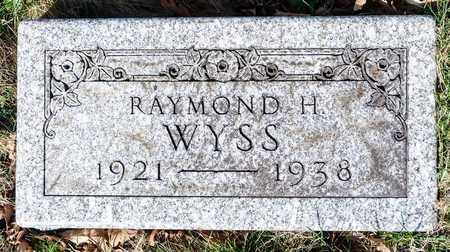 WYSS, RAYMOND H - Wayne County, Ohio | RAYMOND H WYSS - Ohio Gravestone Photos