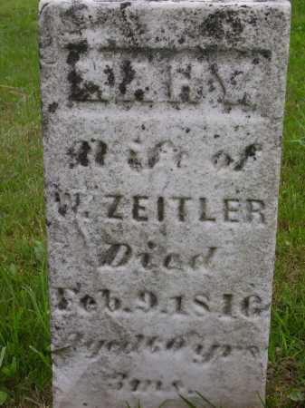 ZEITLER, MARY - Wayne County, Ohio | MARY ZEITLER - Ohio Gravestone Photos