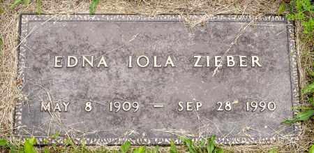 COOK ZIEBER, EDNA IOLA - Wayne County, Ohio | EDNA IOLA COOK ZIEBER - Ohio Gravestone Photos
