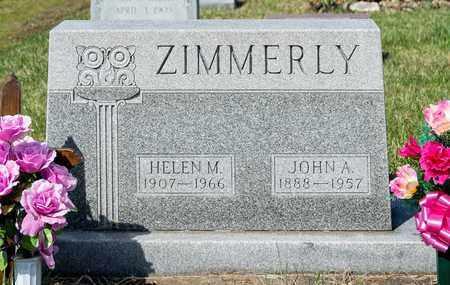 ZIMMERLY, JOHN A - Wayne County, Ohio | JOHN A ZIMMERLY - Ohio Gravestone Photos
