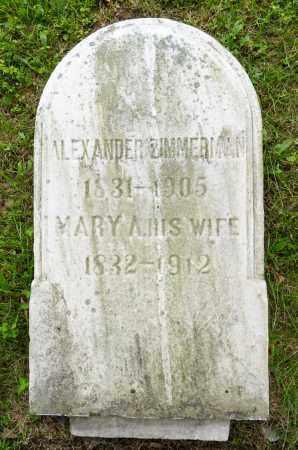 ZIMMERMAN, MARY A. - Wayne County, Ohio | MARY A. ZIMMERMAN - Ohio Gravestone Photos
