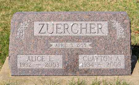 ZUERCHER, ALICE L - Wayne County, Ohio | ALICE L ZUERCHER - Ohio Gravestone Photos