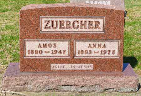 ZUERCHER, AMOS - Wayne County, Ohio | AMOS ZUERCHER - Ohio Gravestone Photos