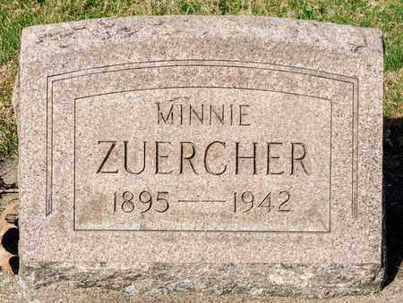 ZUERCHER, MINNIE - Wayne County, Ohio | MINNIE ZUERCHER - Ohio Gravestone Photos
