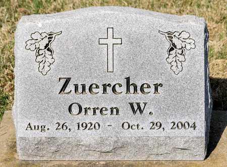 ZUERCHER, ORREN W - Wayne County, Ohio   ORREN W ZUERCHER - Ohio Gravestone Photos