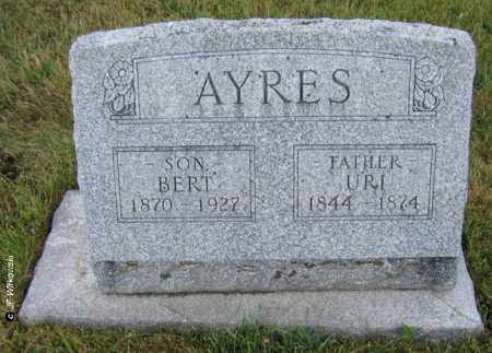AYRES, URIAH S. - Williams County, Ohio | URIAH S. AYRES - Ohio Gravestone Photos