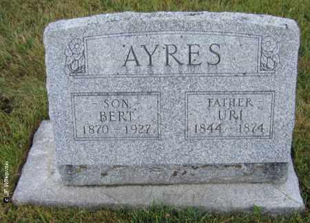 AYRES, URIAH S. - Williams County, Ohio | URIAH S. AYRES - Ohio Gravestone Photos
